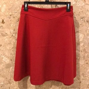 Forever21 red mini A-lined skirt